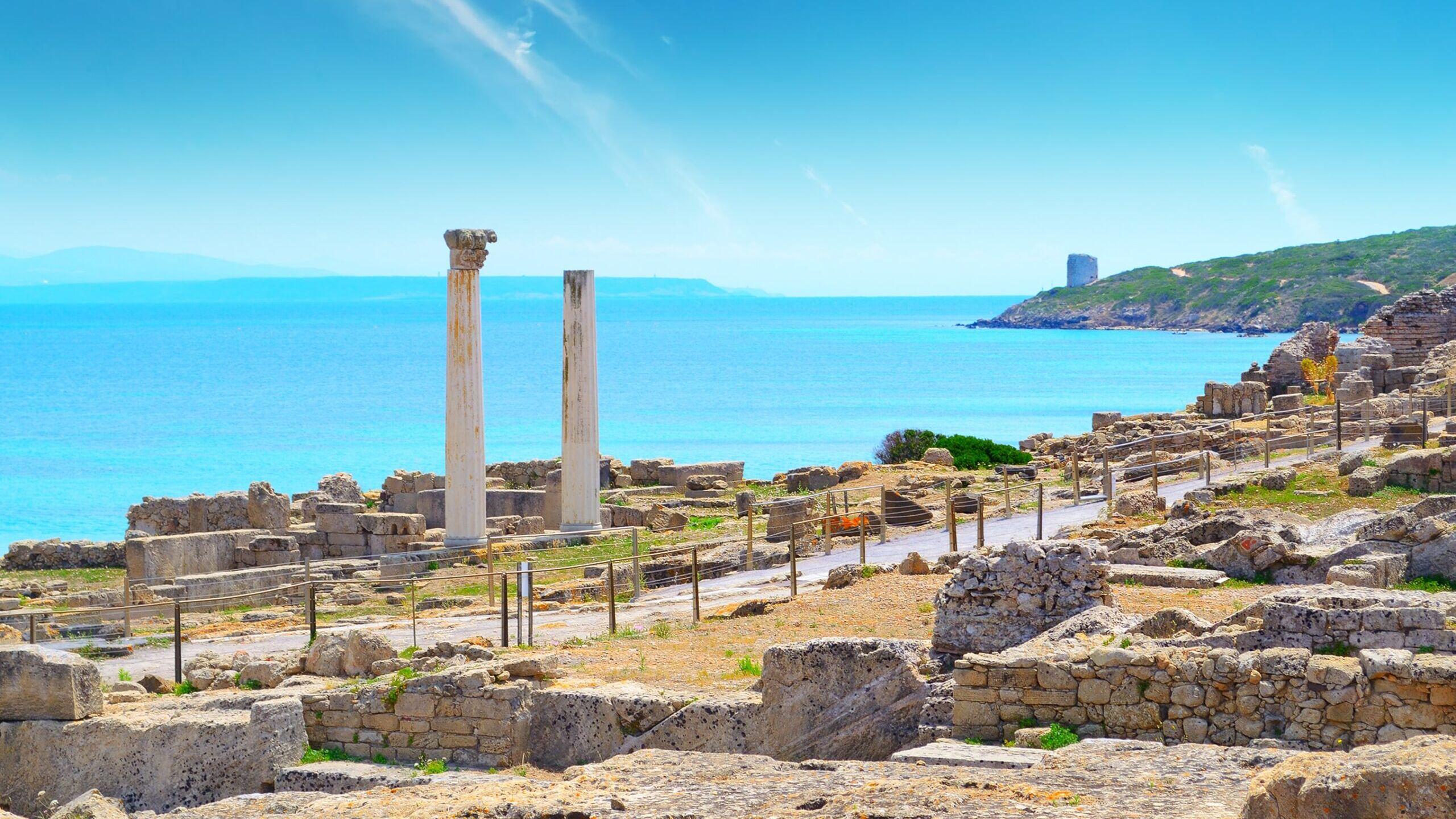 Panorama della città di Tharros